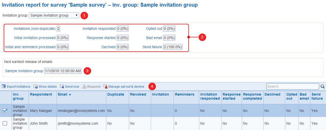 Invitation report the larger the number of contacts in an invitation group the longer the group processing will take the statistics shown in the invitations reports provide stopboris Choice Image